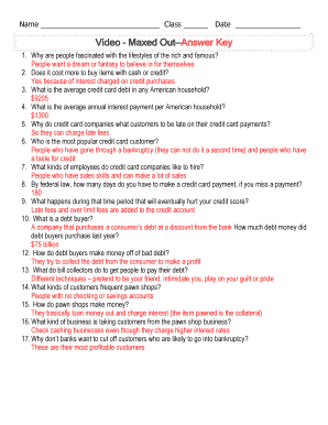 Maxed Out Documentary Questions - Fill Online, Printable ...