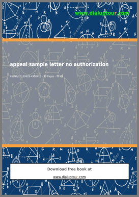 Appeal Sample Letter No Authorization