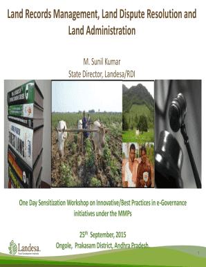 Fillable mabhoomi telangana pahani - Edit Online & Download