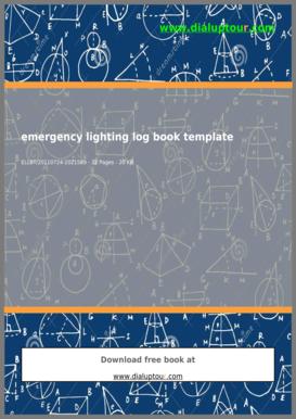 fillable online emergency lighting log book template dialuptourcom