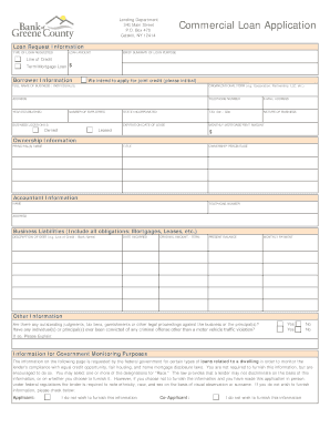 loan application template
