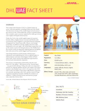 DHL UAE FACT SHEET Fill Online, Printable, Fillable, Blank