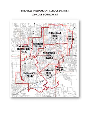 Fillable Online Birdville Independent School District Zip Code Fax Email Print Pdffiller