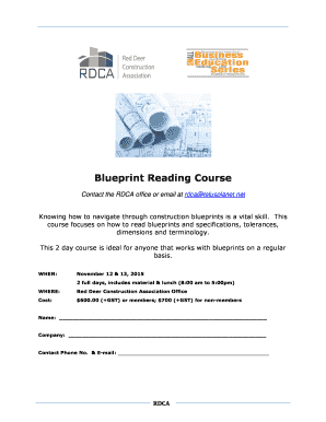 Fillable online fall prevention made easy with the moore balance blueprint reading course red deer construction association malvernweather Images
