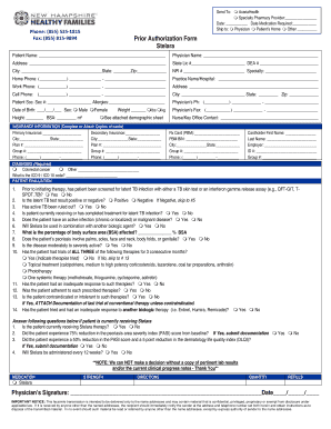 Fillable Online Phone 855 535-1815 Prior Authorization Form