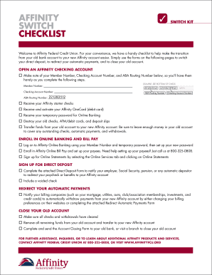 SWITCH SWITCH KIT CHeCKlIST - baffinityfcuorgb