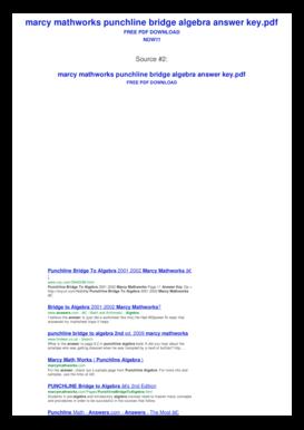 Punchline Bridge To Algebra Answer Key - Fill Online ...