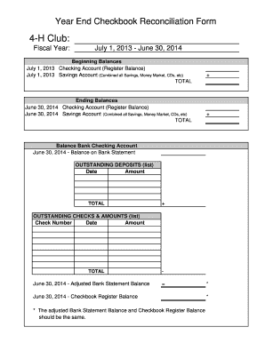 16 printable checking account reconciliation form templates