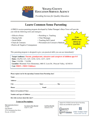 Fillable Online Learn Common Sense Parenting Fax Email Print