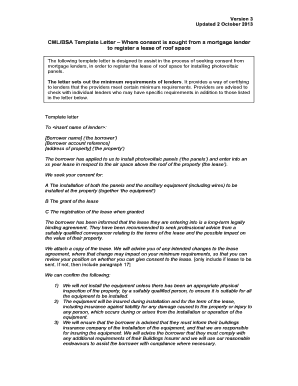 Cml Bsa Template Letter Where Consent Is Sought From A Mortgage Lender
