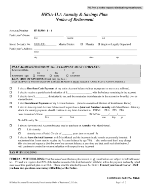 Annuity Notice of Retirement 050808doc