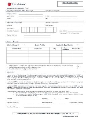 Fillable Online dti gov Consent and Indemnity Form v6doc - dti gov