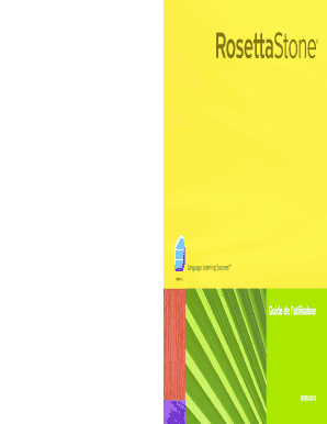 Users Guide French 3 - Rosetta Stone