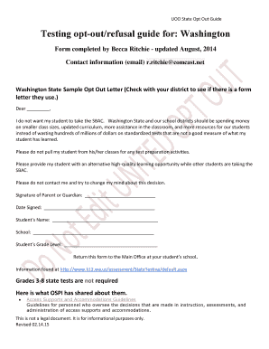 sample opt out form - Fill Out Online Forms Templates