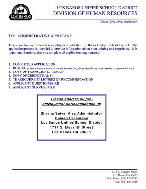 Banos Online.Fillable Online Los Banos Unified School District Division