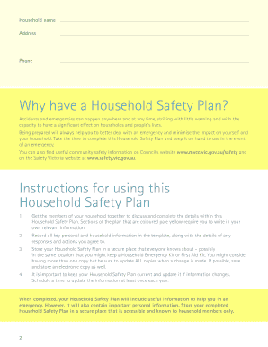 Household Safety Plan - City of Moonee Valley