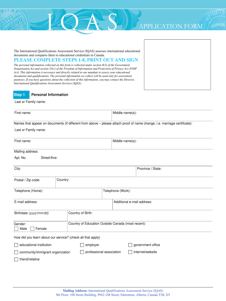 Iqas Application Form Download - Fill Online, Printable, Fillable