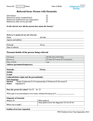 referral form template word - Fill Out Online, Download Printable