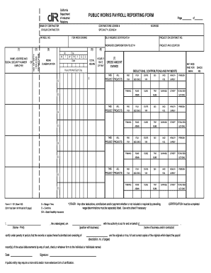DIR Printable Payroll Reporting Form  Free Printable Payroll Forms