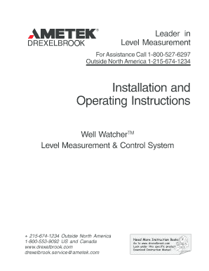 Installation and Operating Instructions - gilsonengcom