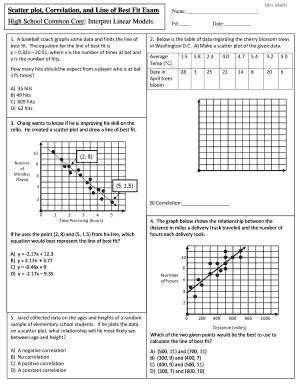 High School Common Core Interpret Linear Models Answers