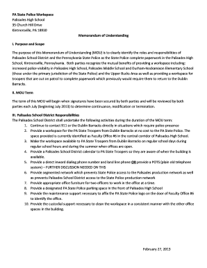 Memorandum of understanding agreement forms and templates pa state police workspace memorandum of understanding i spiritdancerdesigns Choice Image