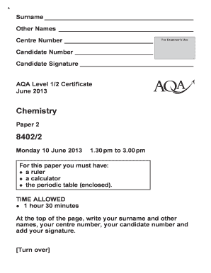 Fillable online aqa level 12 certificate chemistry modified fill online urtaz Images