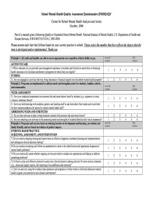 Mental Health Questionnaire Assessment Fill Out Online Forms