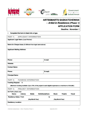 ArtsSmarts - AIR 1 - Application Pkg - Sep14doc