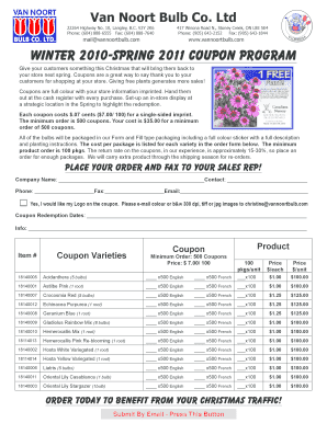 Winter 2010-Spring 2011 Coupon Program