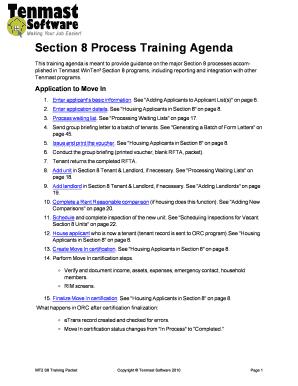 section 8 portability process - Edit, Fill, Print ...