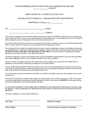 Editable 3 day eviction notice form washington state - Fill Out ...