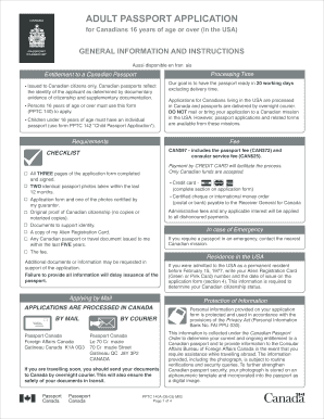 Canadian Passport Form Pptc 140 - Fill Online, Printable, Fillable ...