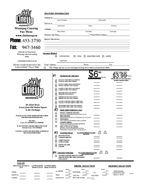 Printable catering business plan ppt - Edit, Fill Out & Download