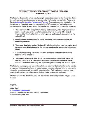 Fillable Online COVER LETTER FOR FOOD SECURITY SAMPLE ...