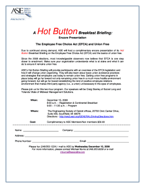 A Hot Button Breakfast Briefing - American Society of - aseonline