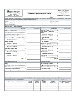 editable personal financial statement template fill print download online forms templates. Black Bedroom Furniture Sets. Home Design Ideas