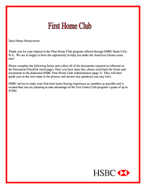 Hsbc First Home Club Application