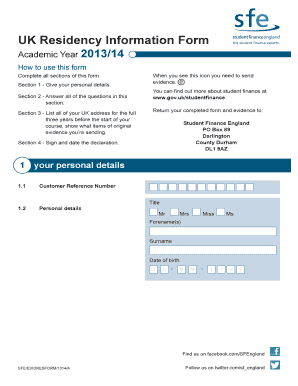 Fillable Online Cp Slc Kb Uk Residency Form 1314 18 Cp