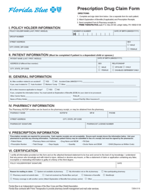 florida blue prescription reimbursement form