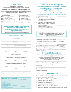 osha form 300a fillable format - Fillable & Printable Online Forms ...