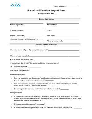 Ross clothing store application