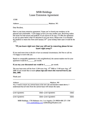 letter to landlord not renewing lease