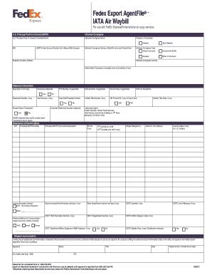 Fedex International Air Waybill Form Download - newstudent's