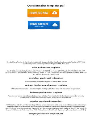 printable survey template