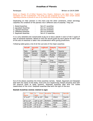 Printable planets at 0 degrees vedic astrology - Fill Out