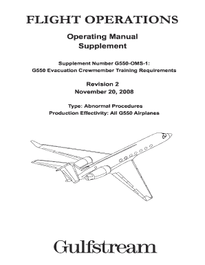 Fillable online g550-oms-01 rev 02 gulfstream aerospace fax.