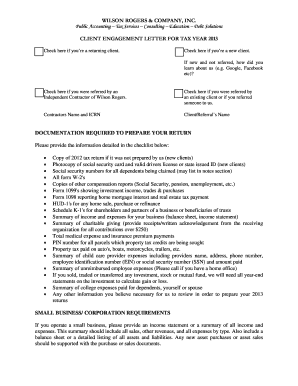 239019120 Tax Consulting Enement Letter Template on