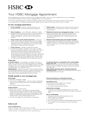 hsbc mortgage documents download - Edit Online, Fill
