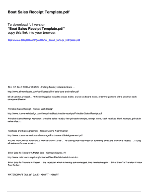 boat sales receipt template pdfslibforyoucom